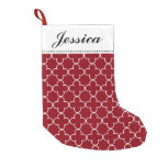 Moroccan quatrefoil pattern Christmas stocking