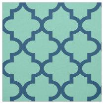 Moroccan Quatrefoil Pattern | Navy Blue Fabric