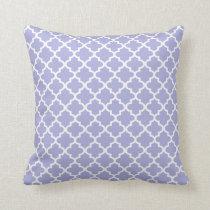 Moroccan Quatrefoil Pattern Pillow   Periwinkle