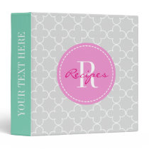 Moroccan quatrefoil pattern recipe binder book