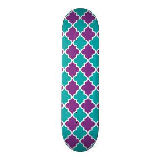 Moroccan Quatrefoil Pattern Skateboard