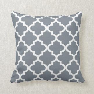 Moroccan Quatrefoil Pattern | Slate Gray Pillow