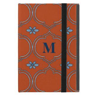 Moroccan Quatrefoil Tile Floral Pattern Watercolor Cases For iPad Mini