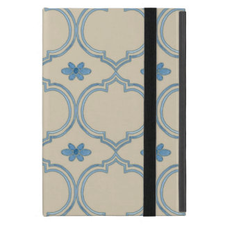 Moroccan Quatrefoil Tile Floral Pattern Watercolor Cover For iPad Mini