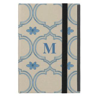 Moroccan Quatrefoil Tile Floral Pattern Watercolor Covers For iPad Mini