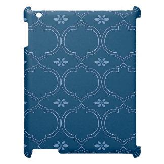 Moroccan Quatrefoil Tile Floral Pattern Watercolor iPad Covers