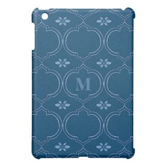 Moroccan Quatrefoil Tile Floral Pattern Watercolor iPad Mini Cases