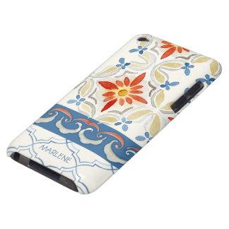 Moroccan Quatrefoil Tile Floral Pattern Watercolor iPod Touch Case