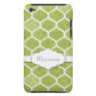 Moroccan Quatrefoil Trellis Antique Grunged Damask Barely There iPod Cases