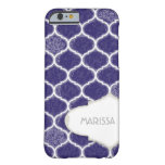 Moroccan Quatrefoil Trellis Antique Grunged Damask Barely There iPhone 6 Case