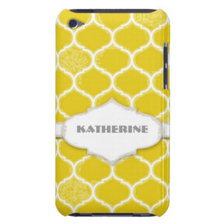Moroccan Quatrefoil Trellis Antiqued Grunged Style Barely There iPod Case