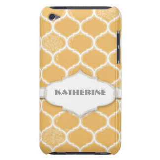 Moroccan Quatrefoil Trellis Antiqued Grunged Style Barely There iPod Cases