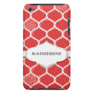 Moroccan Quatrefoil Trellis Antiqued Grunged Style Case-Mate iPod Touch Case