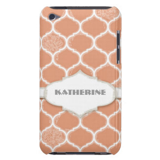 Moroccan Quatrefoil Trellis Antiqued Grunged Style iPod Touch Cover