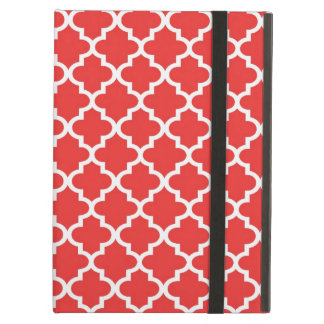 Moroccan red brick tile design pattern chic iPad air cover