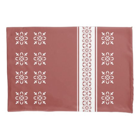 Moroccan Red Ochre French damask Standard Pillow Case