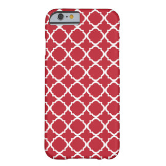 Moroccan Red pattern Barely There iPhone 6 Case