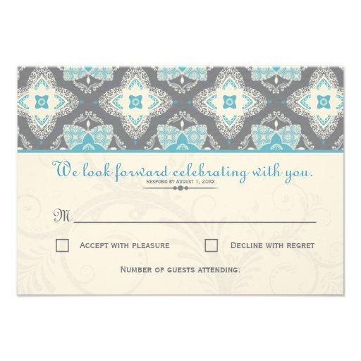 Moroccan RSVP Card Personalized Invite