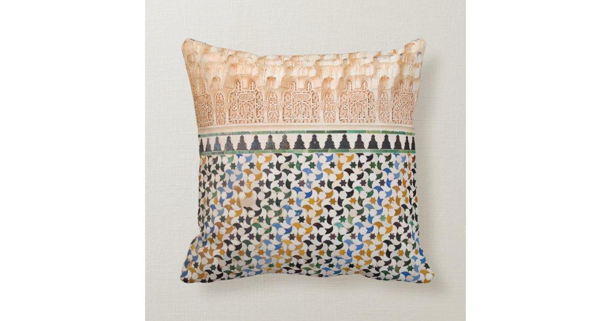 Moroccan Style Throw Pillow Zazzle