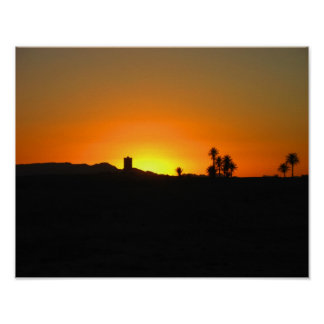 Moroccan Sunset Poster