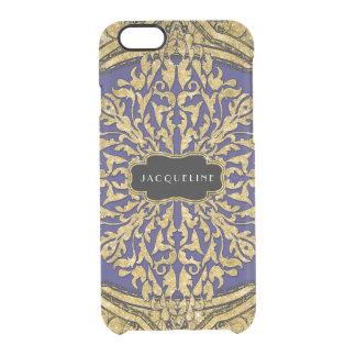 Moroccan Swirl Scroll Gold Glitter Elegant Name Clear iPhone 6/6S Case