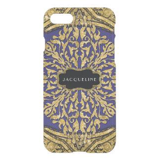 Moroccan Swirl Scroll Gold Glitter Elegant Name iPhone 7 Case