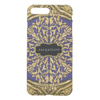 Moroccan Swirl Scroll Gold Glitter Elegant Name iPhone 7 Plus Case