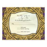 Moroccan Swirl Scroll Gold Glitter Elegant Wedding Card (<em>$2.38</em>)