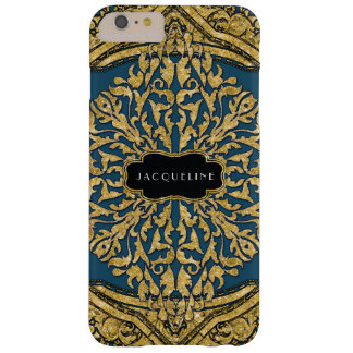Moroccan Swirl Scroll Gold Glitter Look Elegant Barely There iPhone 6 Plus Case
