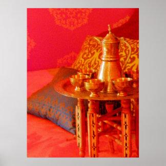 Moroccan Tea Time Poster
