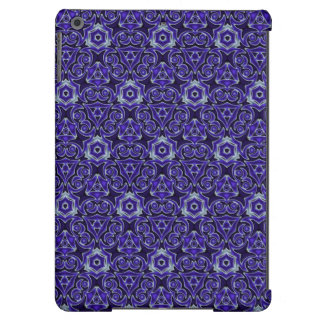 Moroccan Textile Pattern Blue Case For iPad Air