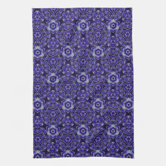Moroccan Textile Pattern Blue Kitchen Towels