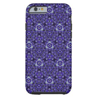 Moroccan Textile Pattern Blue Tough iPhone 6 Case