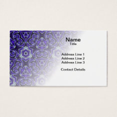Moroccan Textile Pattern Business Card at Zazzle