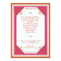 Moroccan themed wedding invitation