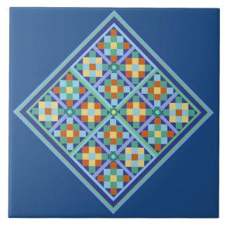 Moroccan tile blocks in diamond formation