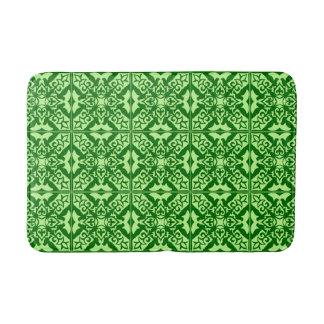 Moroccan tile - dark pine green bath mats