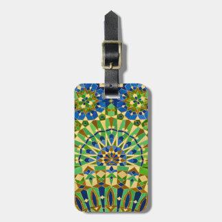 Moroccan Tile Luggage Tag