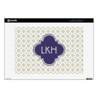 MOROCCAN TILE MONOGRAM LAPTOP SKIN
