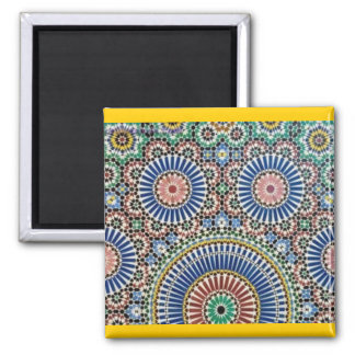 Moroccan Tile Mosaic 2 Inch Square Magnet