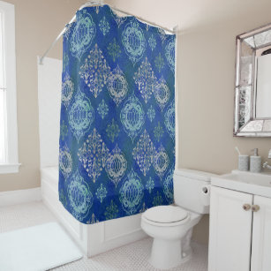 Moroccan Tile Pattern Modern World Style Bohemian Shower Curtain