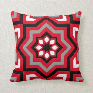Black White And Gray Throw Pillows : Red Black Grey Pillows - Decorative & Throw Pillows Zazzle