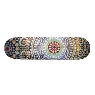 Moroccan Tiled Skateboard