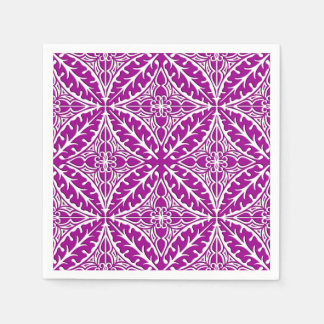 Moroccan tiles - amethyst purple and white paper napkin