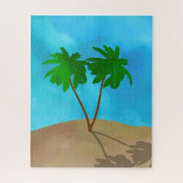 Beach Themed Moroccan tiles - cobalt blue and white jigsaw puzzle