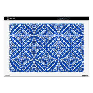 Moroccan tiles - cobalt blue and white skin for laptop