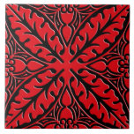 """Moroccan tiles - dark red and black<br><div class=""""desc"""">Moroccan inspired tile pattern tile with a polished,  ceramic look - dark red with a black background</div>"""