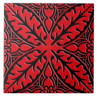 Moroccan tiles - dark red and black