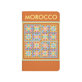 Moroccan tiles in pink blue and terracotta journal