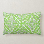 Moroccan tiles - lime green and white pillow